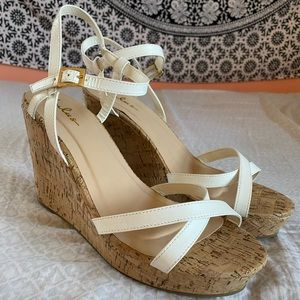 White Criss Cross Wedges